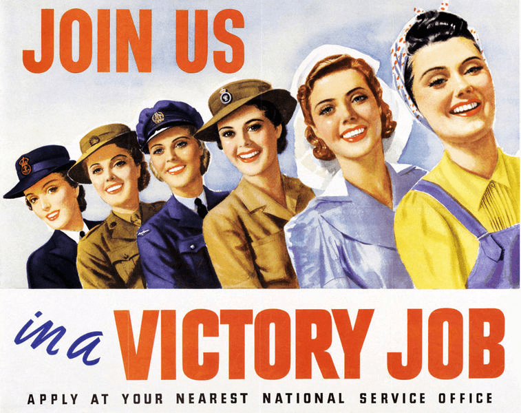 join us in a victory job poster